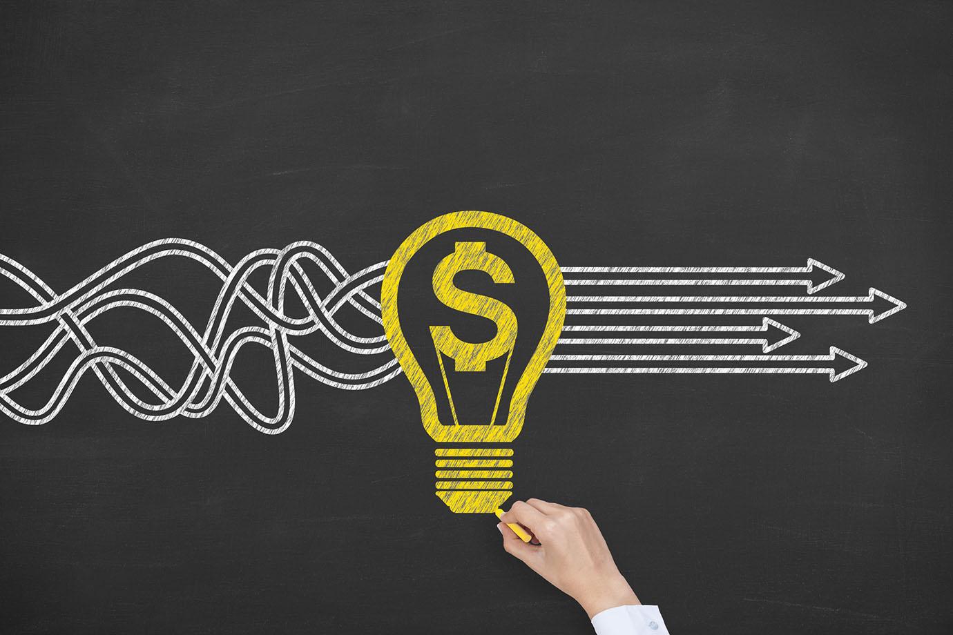 New Bright Idea Solution Finance Concept - Price SF
